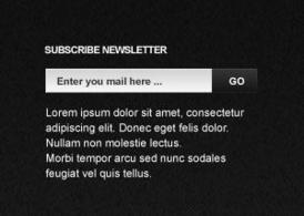 Subscribe Newsletter PSD