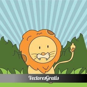 SCHATTIG LION VECTOR ILLUSTRATION.ai