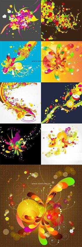 Colorful background of the trend pattern vector material - o