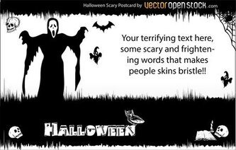 Halloween - Scary Postcard