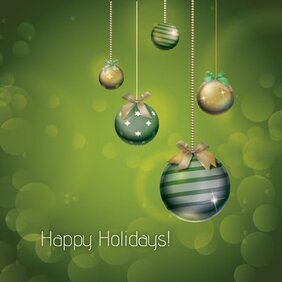 Verde oliva natale ornamentale Holiday Card