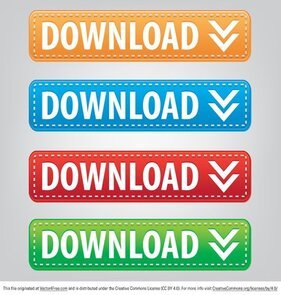 Stitched Download Button Vectors