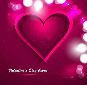 Valentine's Day heart greeting card