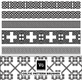 Celtic Pattern Illustrator Brushes Vector Free