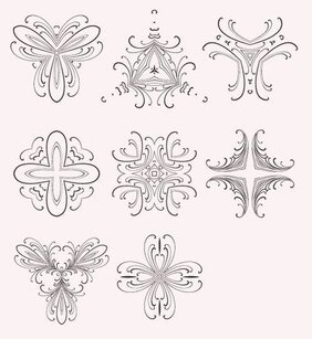 8 Decorative Free Vector Elements Edition 6