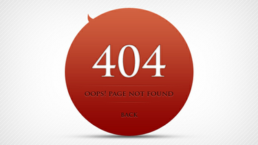 Errore 404 pagina Design
