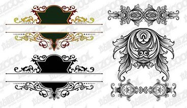 2 gorgeous European-style classical pattern