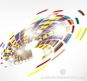 Abstract Colorful Swirl Vector Graphics Background