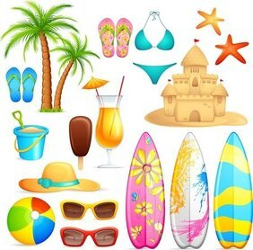 Lovely Seaside Stickers 04