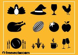 Thanksgiving Icons Grafiken