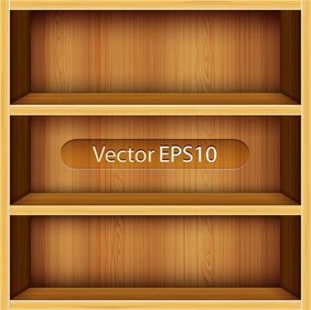 Solid Wood Bookshelves Vector 1