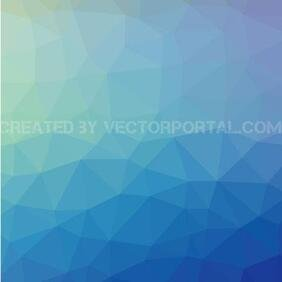 BLEU abstrait LOW POLY VECTOR.eps