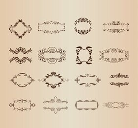 Vector Set di elementi decorativi Frame