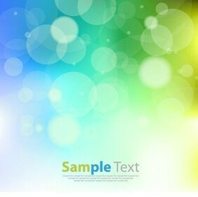 Abstract Design Blue Green Bokeh Background