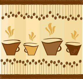 Lovely Coffee Theme Vector 2