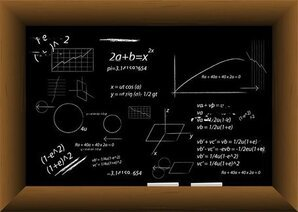 Vector Blackboard Filled With Equations