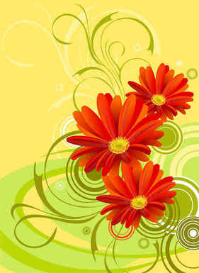 Free Red Vector Flowers