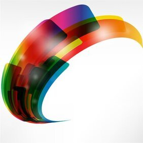 Creative Warped Abstract Colorful Shapes