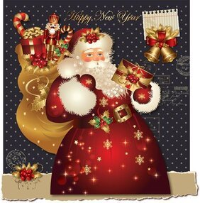 Xmas greeting card vector-3