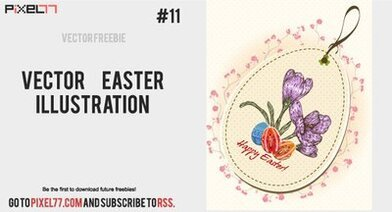 Flourish Vintage Easter Card