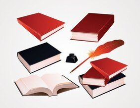 Book Vector and Feather Ink Pen Clip Art (Free)