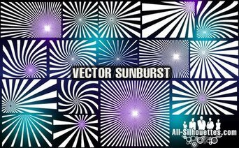 22 Vector sunburst clipart