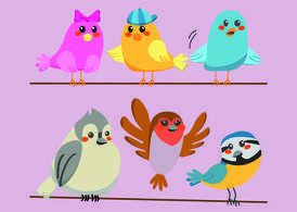 Cute Bird Vectors