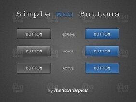 Boutons Web simple