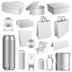 3D Packaging Mockup mall