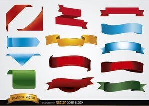 Colored banner shapes