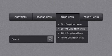 Sleek navigation menu bar (PSD)