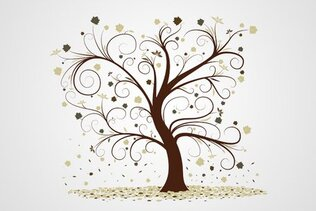 Autumn Tree Vector Clip Art (Free)