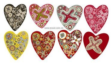 The trend of many lovely heart-shaped