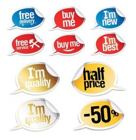 Vector speech bubble stickers