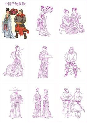 Chinese Traditional Clothing Vector 1