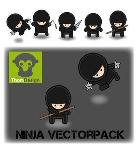 Ninja cartoon characters