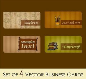 Campus Fashion Theme Cards