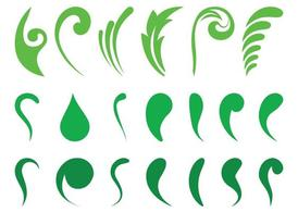 Abstract Leaves Set