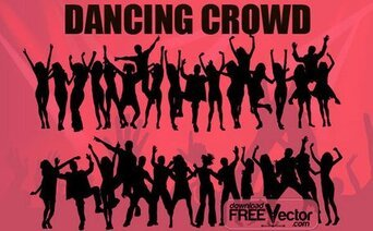 Free Vector Dancing Crowd