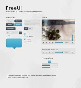 FreeUi A small web UI set