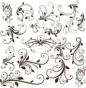Swirl Floral Decorative Element
