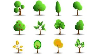 Simple trees icons