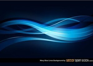 Wavy Blue Lines Background Free