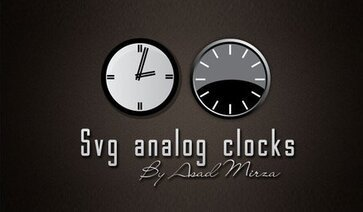 Svg Analog Clocks Free