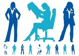 Businesswomen Graphics Set