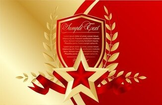 Bookmarks Red Fivepointed Star
