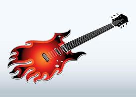 Flaming guitare électrique