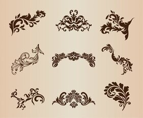 Decorative Design Element Vector Set