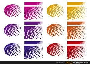 Halftone Backgrounds