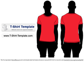Free Short sleeve T-shirt Template Illustrator